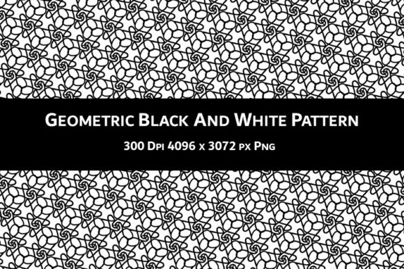 Print on Demand: Geometric Black and White Pattern V.68 Graphic Backgrounds By Fleur de Tango