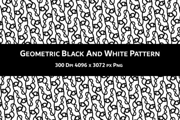 Print on Demand: Geometric Black and White Pattern V.90 Graphic Backgrounds By Fleur de Tango