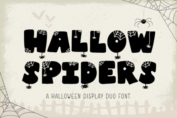Print on Demand: Hallow Spiders Display Font By AquariiD