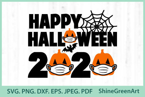 Print on Demand: Halloween - Happy Halloween Mask Pumpkin Graphic Crafts By ShineGreenArt