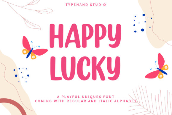 Print on Demand: Happy Lucky Display Font By Typehand Studio