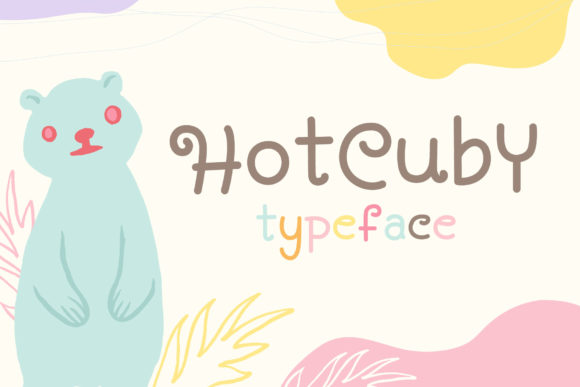 Print on Demand: Hot Cuby Display Font By Alit Design