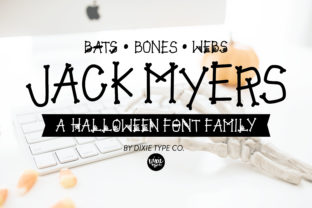 Print on Demand: Jack Myers Display Font By dixietypeco