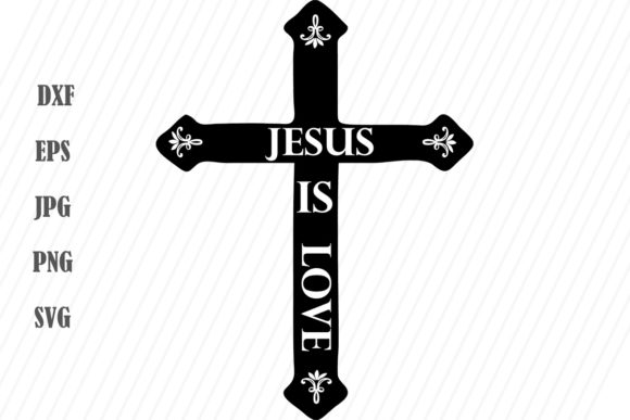 Print on Demand: Jesus is Love Cross Graphic Crafts By Becky W. Creations