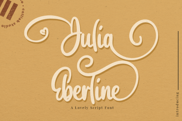 Print on Demand: Julia Eberline Script & Handwritten Font By colllabstudio
