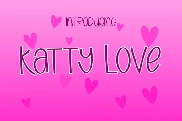 Print on Demand: Katty Love Script & Handwritten Font By Pidco.art