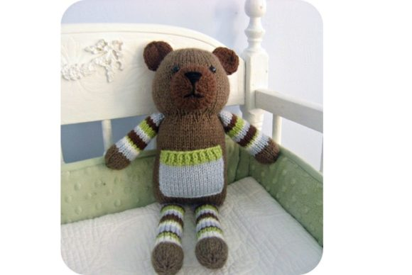 Knit Pocket Bear Pattern Grafik Knitting Patterns von Amy Gaines Amigurumi Patterns