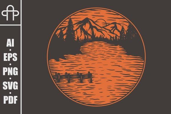 Print on Demand: LAKE VIEWS VECTOR ILLUSTRATION Graphic Illustrations By Andypp