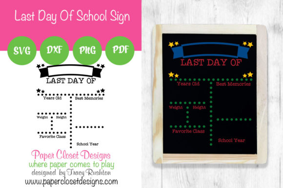 Print on Demand: Last Day of School Sign - Vertical Graphic Crafts By rushton_tracy