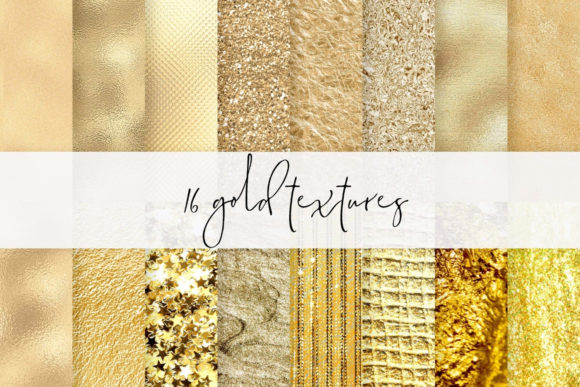 Luxury Gold Paper,  Real Gold Papers Graphic Textures By Aneta Design