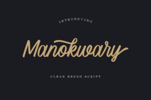 Print on Demand: Manokwary Script & Handwritten Font By Typehand Studio