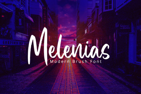 Print on Demand: Melenias Script & Handwritten Font By Din Studio