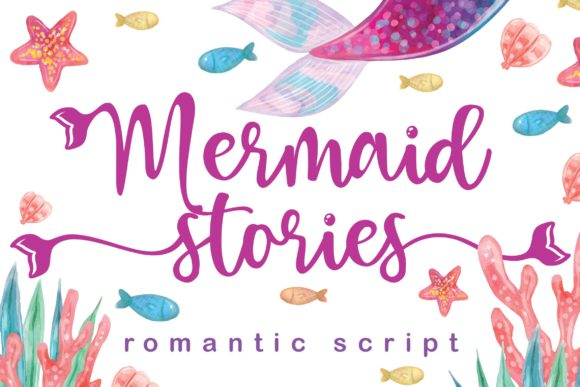 Print on Demand: Mermaid Stories Script & Handwritten Font By fontherapy
