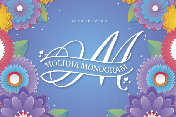 Print on Demand: Molidia Monogram Display Font By ToniStudio