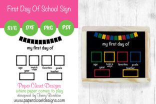 Print on Demand: My First Day of School Sign - Horizontal Graphic Crafts By rushton_tracy