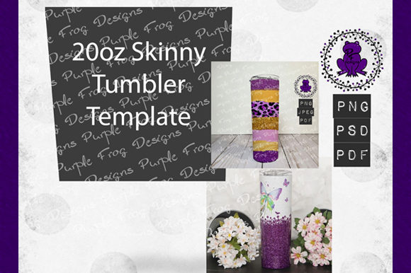 New 20oz Tumbler Skinny Template Graphic Graphic Templates By Heather Terry
