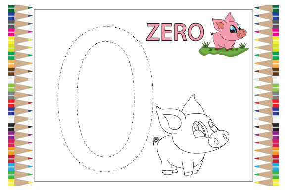 Numbers Coloring Sheet For Kids (Graphic) By Curutdesign · Creative Fabrica