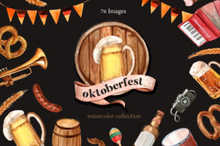 Oktoberfest Watercolor Set Graphic Illustrations By WatercolorEps