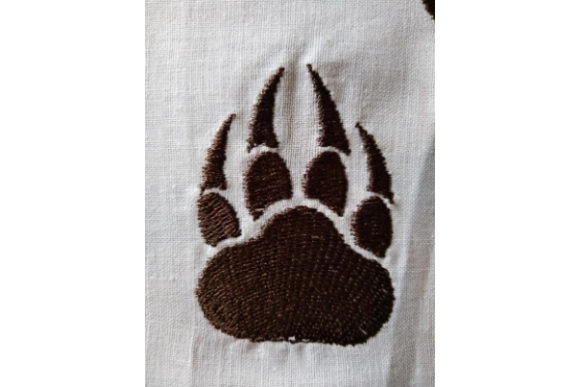 Paw with Claws Embroidery Download