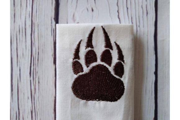 Paw with Claws Embroidery Item