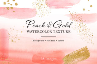 Peach Splash Mix Watercolor Graphic Illustrations By WatercolorEps