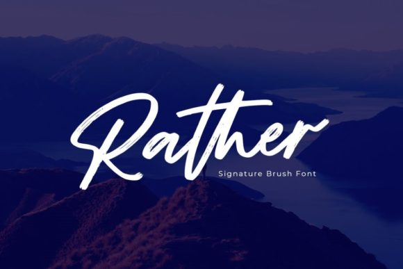 Print on Demand: Rather Script & Handwritten Font By Din Studio