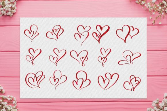 Red Heart Clipart, Valentine's Day Clipart Graphic Illustrations By Aneta Design