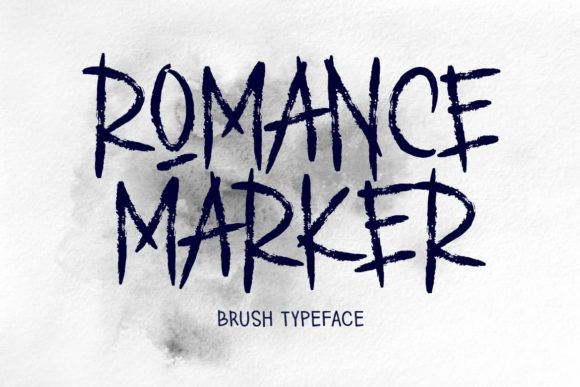 Print on Demand: Romance Marker Display Font By aminmariostudio