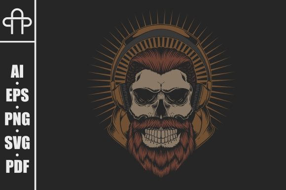 Print on Demand: SKULL BEARD HEADPHONE Graphic Illustrations By Andypp