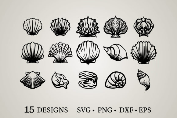Seashell Bundle Graphic Print Templates By Euphoria Design