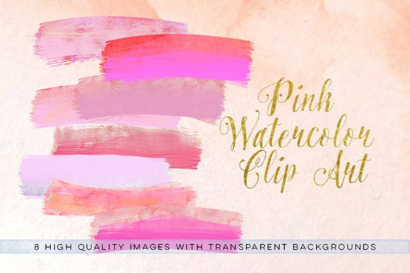 Print on Demand: Watercolor Brush Strokes Clip Art Graphic Illustrations By SunflowerLove