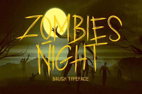 Print on Demand: Zombies Night Display Font By aminmariostudio