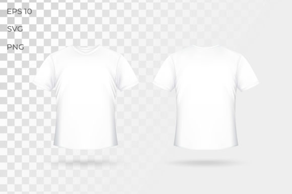 Print on Demand: Front and Back White Tshirt Mockup . Graphic Graphic Templates By ngabeivector