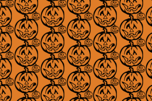 Ghost Pumpkin Pattern Graphic Patterns By Rizky Creative