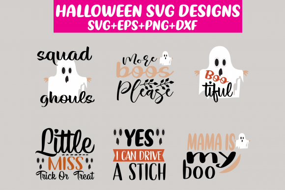 Print on Demand: 6 Halloween Designs Graphic Crafts By Design Store Bd.Net