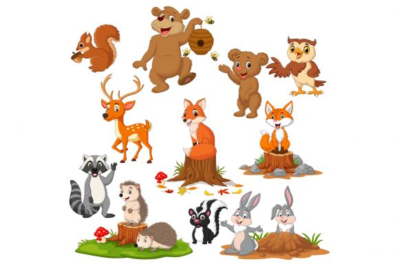 Autumn Forest Animal Bundle Graphic Illustrations By tigatelusiji