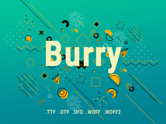 Print on Demand: Burry Sans Serif Font By Design Stag