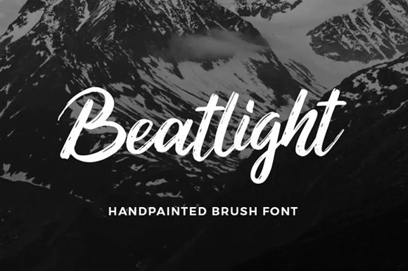 Print on Demand: Beatlight Script & Handwritten Font By Visuelcolonie