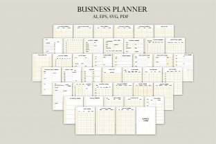 Business Planner - Gold Graphic Graphic Templates By Igraphic Studio