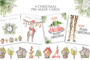 Christmas Watercolor Characters Graphic Illustrations By EvgeniiasArt 6