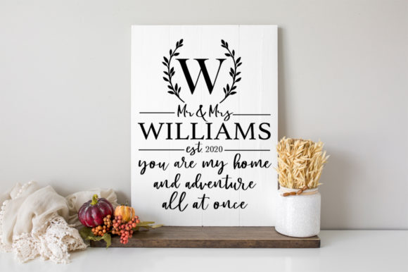 Print on Demand: Customizable Monogram Wedding Sign Graphic Crafts By Simply Cut Co