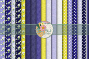 Print on Demand: Denim and Daisy Papers Graphic Backgrounds By QueenBrat Digital Designs