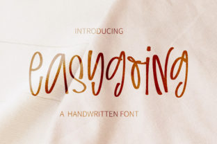 Print on Demand: Easygoing Script & Handwritten Font By BitongType