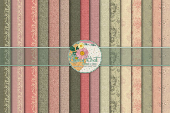 Print on Demand: Exquisite Romance Papers Graphic Backgrounds By QueenBrat Digital Designs