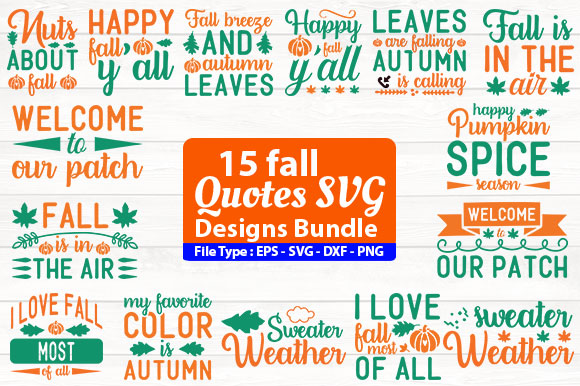 Fall Quotes Design Bundle Graphic By Design Store Creative Fabrica