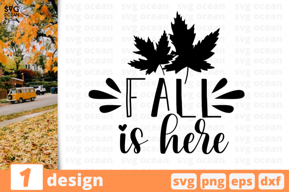 Print on Demand: Fall is Here Graphic Crafts By SvgOcean