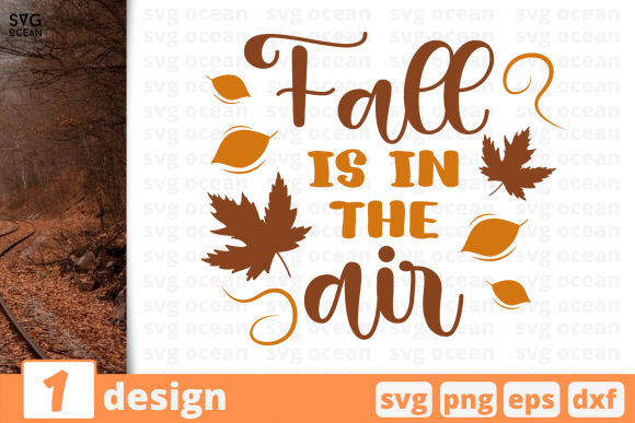 Print on Demand: Fall is in the Air Graphic Crafts By SvgOcean