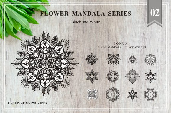 Print on Demand: Flower Mandala Series 02 Graphic Crafts By Ahsancomp Studio