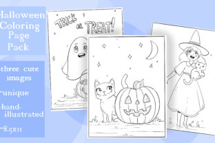 Print on Demand: Fun Halloween Coloring Pages - Pack of 3 Graphic Coloring Pages & Books Kids By madelinehaleart