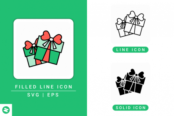 Gift Box Icons Set Graphic By Zenorman03 Creative Fabrica